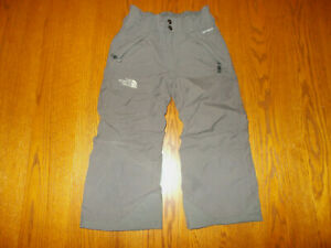 THE NORTH FACE HYVENT GRAY INSULATED NYLON SNOW PANTS BOYS 5 EXCELLENT COND..