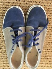 Vans Youth Boys Skater Shoe Size Youth 4.0 Blue/Gray Suede EUC