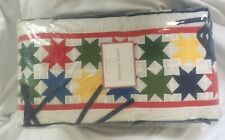 Pottery Barn Kids Primary Star Collection Crib Bumper Nwt