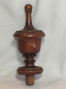 single vintage antique wooden finial wood furniture accent hardware part 1 piece