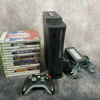 Microsoft Xbox 360 Elite 250GB Black PAL Console Inc Controller + 15 Game Bundle