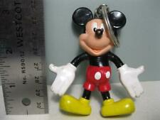 VTG 1993 Mickey Mouse MONOGRAM BENDABLE Bend POSEABLE KEYCHAIN KEY RING chain