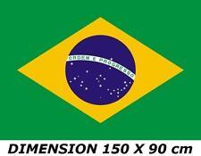 DRAPEAU 150 X 90cm BRESIL BRESILIEN BRASIL BRAZIL FLAG No fanion maillot écharpe