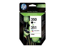 New Original HP 350 & 351 Inkjet 2 cartridges Black Tri Colour pack NEW!