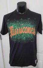 Miami Hurricanes College Football Team Logo Black T Shirt Large Vintage 90s Rare