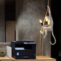 Vintage Edison Ceiling Pendant Loft Resin Hemp Rope Monkey Pendant Light Fixture