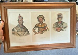 Native American Indian Chief Print J.T. Bowen Published by Rice & Hart 19th C.