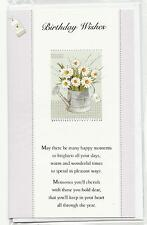 Daisy's in Watering Can Birthday Card