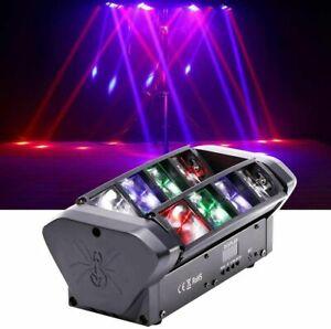 80W RGBW Moving Head Light DJ Spider Stage Lighting Beam 8 LED Bar Disco Party