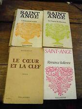 Lot de 4 livres de Saint Ange