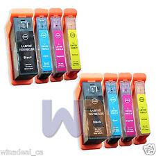 8 Pack 100XL 105XL 108XL Lexmark ink Pro207 S301 S408 Pro708 Pro901 Printer