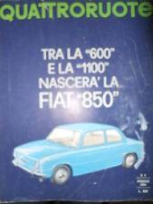 Quattroruote 98 1964 Tra la 600 e la 1100 nascerà la FIAT 850