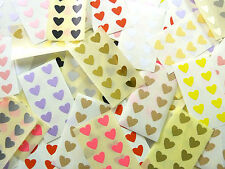Mini Sticker Pack, Small 13x12mm Self-Adhesive Heart Shape Stickers, Labels
