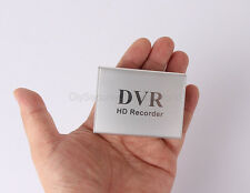 Silver 1 CH Mini DVR Video/Audio CCTV Recorder SD card Car Security US Stock