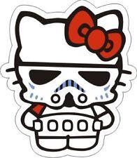 "Hello Kitty Stormtrooper Sticker (COLOR) - 4"" x 3.5"""