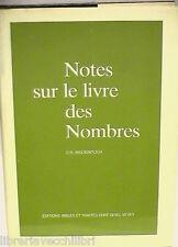 NOTES SUR LE LIVRE DES NOMBRES C H Mackintosh Editions Bibles et Traites Biblica