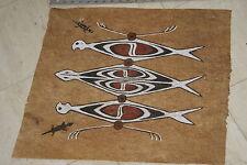 Tapa Kapa Lake Sentani Bark Cloth Symbolic Authentic Abstract Tribal Painting 2