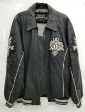 Avirex Authentic Motorcycle Leather Jacket Gathering Of The Tribes Size Large