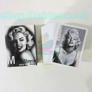 Playing card/Poker Deck 54 cards of US MOVIE STAR Marilyn Monroe with box