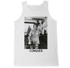 ARNOLD CONQUER LIFT WORKOUT BEAST DEADLIFT GYM SQUAT FITNESS WHEY MENS TANK TOP