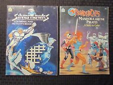 1986/87 THUNDERCATS & SILVERHAWKS Activity Coloring Book VG-/VG+ LOT of 2