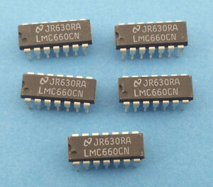 5 x LMC660CN (CMOS quad operational amplifier)