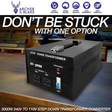 3000W Step Down Transformer 240V 110V Electrical Appliance Voltage Converter