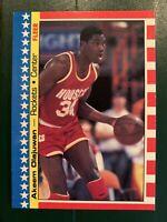 1987-88 Fleer Basketball Sticker Hakeem Akeem Olajuwon Houston Rockets #3