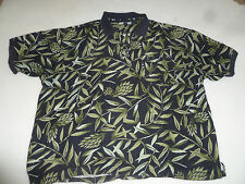 VINTAGE TOMMY BAHAMA HAWAIIAN PALM FROND LEAVES SILK BUTTON SHIRT MENS SIZE XXL