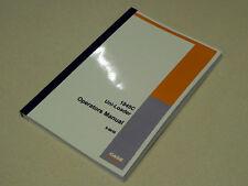 Case 1845C Uni-Loader Skid Steer Operators Manual Owners Maintenance Book NEW