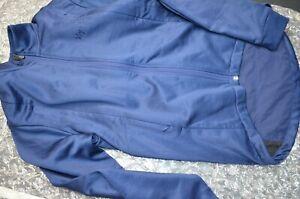 RAPHA Winter Long sleeve jersey Jacket Embroidered Mens Medium Blue