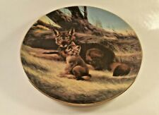 "W S George Last of Their Kind: Endangered Species ""The Red Wolf"" Collector Plate"