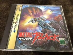 Sega Saturn Metal Black Ving Action Shooting Game Japan Import
