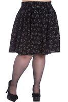 Hell Bunny Plus Size Black Cat Meow Gothic Matou Mini Skirt 2X 3X 4X