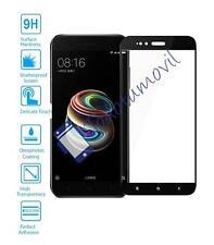 Cristal templado protector de pantalla completo para Xiaomi mi A1 y 5x negro