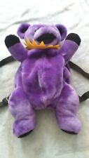 Grateful Dead Backpack Book Bag PURPLE/YELLOW Dancing Bear by Steven Smith