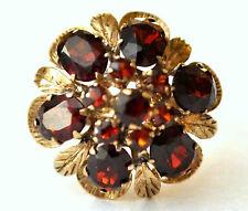 Victorian 9K Solid Gold and Natural Garnet Thai Princess Harem Ring Size 5 3/4