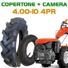 Pneumatici 4.00-10 4PR + Camera d'aria per motozappa motocoltivatore trattorino