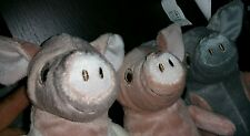 NEW IKEA 3-pc set Kelgris Cute Little Pigs Soft Stuffed Animal Plush Toy Piglet
