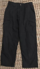 TRU-SPEC Mens Industrial Black Tactical Uniform Cargo Pants Size 34X30 Ripstop