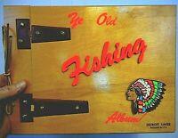 Detroit Lakes Minnesota MN Cabin Photo Picture album scrapbook Vintage Fishing