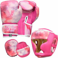 VELO Focus Pads Junior Boxing Gloves Kids Head Guards Hook & Jab Mitts MMA