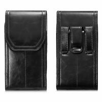 Vertical Leather Holster Case Belt Clip Pouch for iPhone XS Max R X 7 8 Plus
