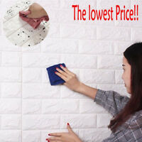 3D Wall Sticker PE Foam Panels Brick DIY Self Adhesive Waterproof Home Decor