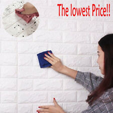 3D Wall Sticker PE Foam Panels Brick DIY Self Adhesive Waterproof Home Decor