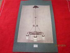 altes Foto auf Pappe - Bildtafel - extrem seltene Lampe - wohl um 1900    /S54