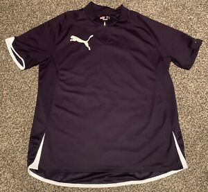 Puma Women's Large Black Polo 1/4 Zip Golf top 2 Logo Shirt EUC
