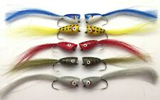 Saltwater Fly Fishing Sand Eels//Sandeel Size 2//0 and 2 Pack of 4 Red//Pink #61C