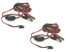 (2) 8 ft. WIRE POWER HARNESS / CABLES w/ Alligator Clamps Lawn / Yard Sprayers