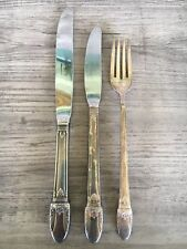 """Vintage Set of 1847 Rogers Bros """"First Love"""" Silver Plate Flatware 3 Pieces"""